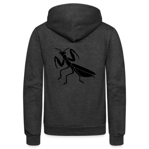 praying mantis bug insect - Unisex Fleece Zip Hoodie