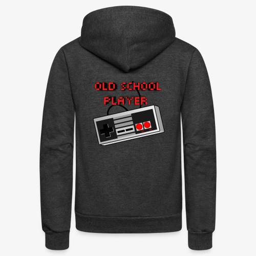 Old School Player - Unisex Fleece Zip Hoodie