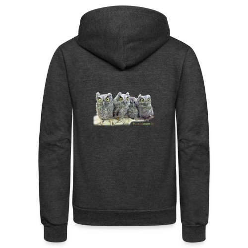 Five Western Screech Owls at WildCare - Unisex Fleece Zip Hoodie