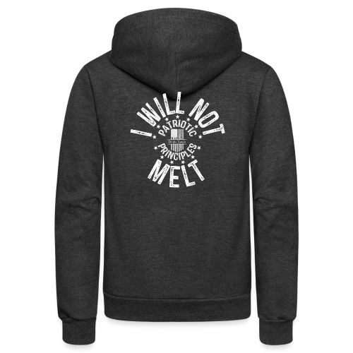 OTHER COLORS AVAILABLE I WILL NOT MELT WHITE - Unisex Fleece Zip Hoodie