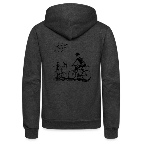 Bicycle Bicycling Picasso - Unisex Fleece Zip Hoodie