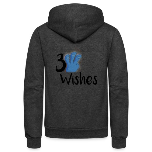 3 Wishes Abstract Design. - Unisex Fleece Zip Hoodie