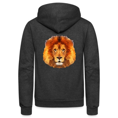 Low Poly Lion Face - Unisex Fleece Zip Hoodie
