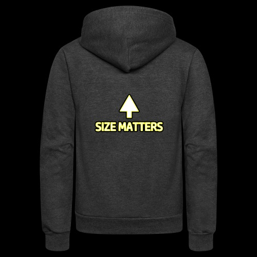 Size Matters - Girls - Unisex Fleece Zip Hoodie