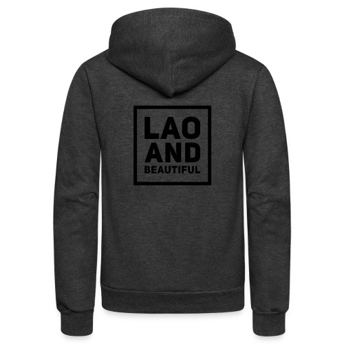 LAO AND BEAUTIFUL black - Unisex Fleece Zip Hoodie