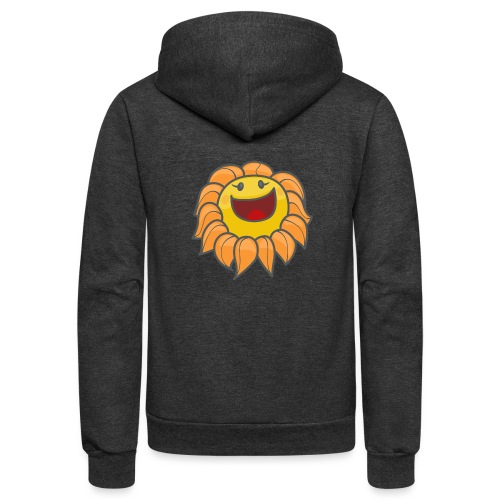 Happy sunflower - Unisex Fleece Zip Hoodie