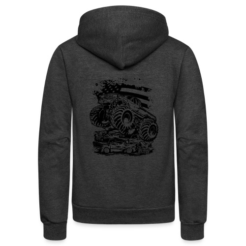 Monster Truck USA - Unisex Fleece Zip Hoodie