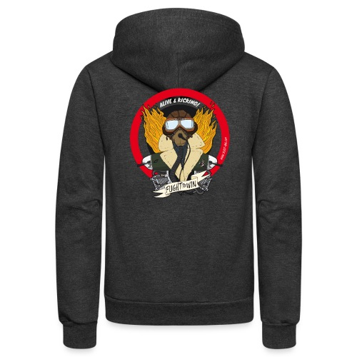 WW2 pilot color - Unisex Fleece Zip Hoodie