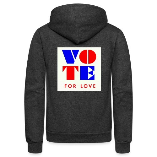 vote4love-sample - Unisex Fleece Zip Hoodie