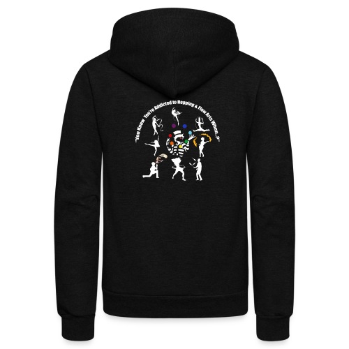 You Know You're Addicted to Hooping - White - Unisex Fleece Zip Hoodie