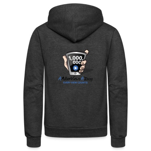 AMillionViewsADay - every view counts! - Unisex Fleece Zip Hoodie