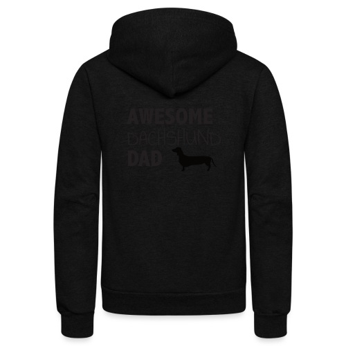 Awesome Dachshund Dad - Unisex Fleece Zip Hoodie
