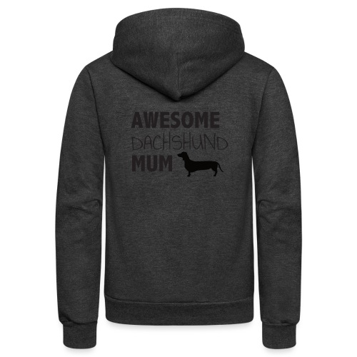 Awesome Dachshund Mum - Unisex Fleece Zip Hoodie