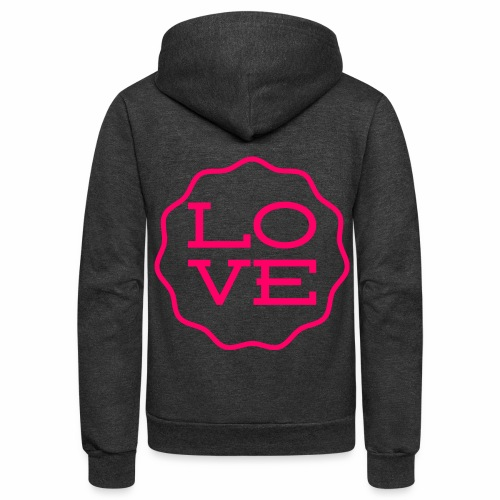 love design - Unisex Fleece Zip Hoodie