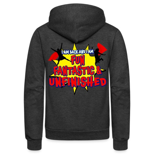Unfinished girls jumping - Unisex Fleece Zip Hoodie