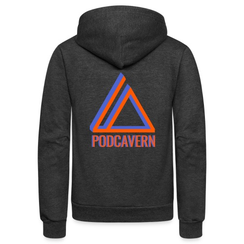 PodCavern Logo - Unisex Fleece Zip Hoodie