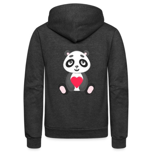 Sweetheart Panda - Unisex Fleece Zip Hoodie