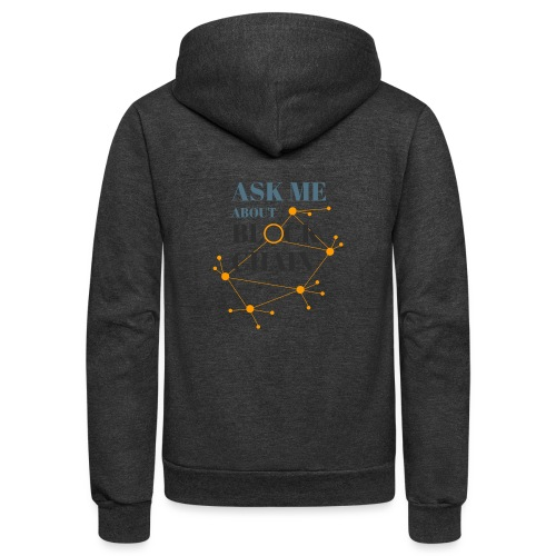 Ask Me About Blockchain - Unisex Fleece Zip Hoodie