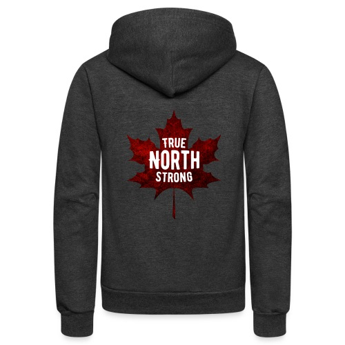 True North Maple Leaf - Unisex Fleece Zip Hoodie
