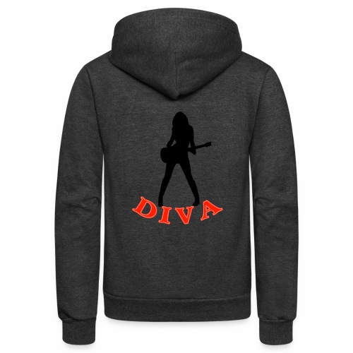 Rock Star Diva - Unisex Fleece Zip Hoodie