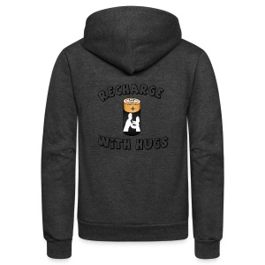 Recharge with hugs - Unisex Fleece Zip Hoodie