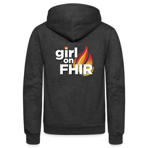Girl on FHIR - Unisex Fleece Zip Hoodie