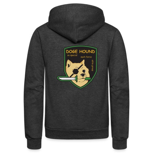 Doge Hound Metal Gear Solid - Unisex Fleece Zip Hoodie