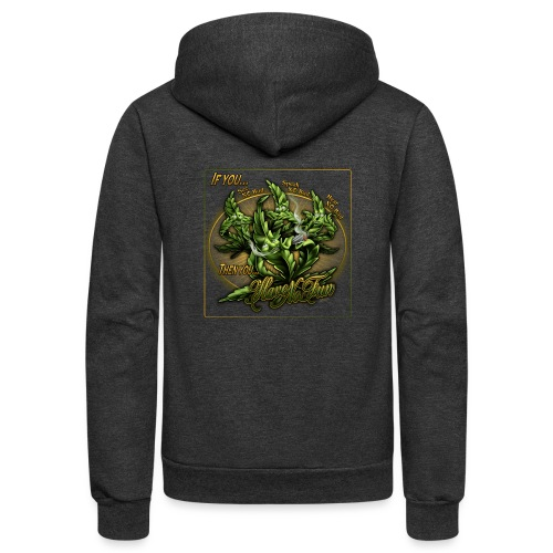 See No Bud by RollinLow - Unisex Fleece Zip Hoodie