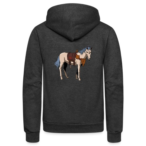 Useless the Horse png - Unisex Fleece Zip Hoodie