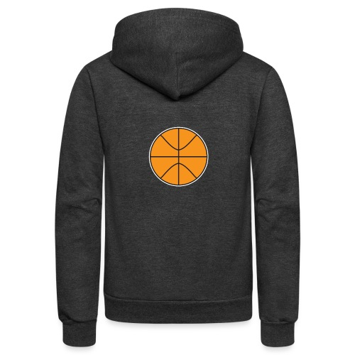 Plain basketball - Unisex Fleece Zip Hoodie