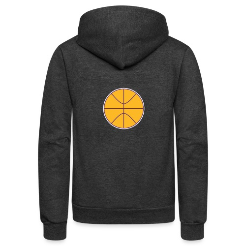 Basketball purple and gold - Unisex Fleece Zip Hoodie