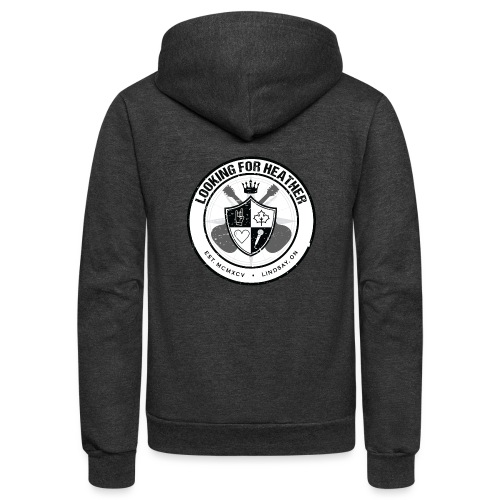Looking For Heather - Crest Logo - Unisex Fleece Zip Hoodie