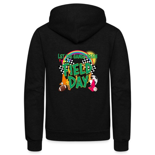 Field Day Games for SCHOOL - Unisex Fleece Zip Hoodie