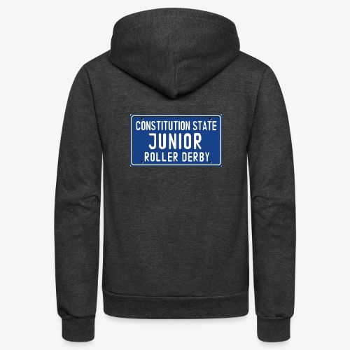 Constitution State Junior Roller Derby - Unisex Fleece Zip Hoodie
