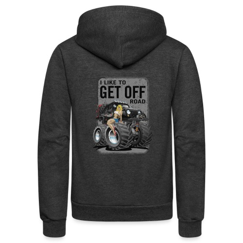 I like to get off road - Unisex Fleece Zip Hoodie