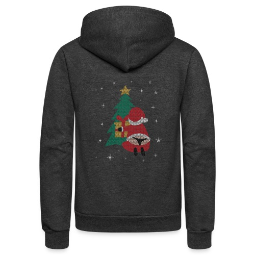 Ugly Christmas Sweater String Thong Santa - Unisex Fleece Zip Hoodie