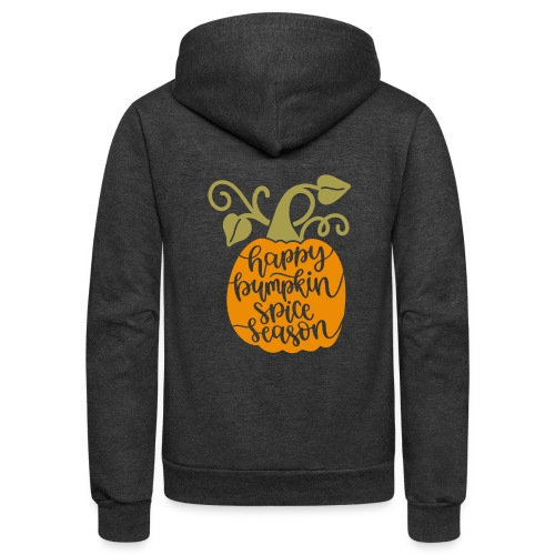 happy pumpkin spice season - Unisex Fleece Zip Hoodie