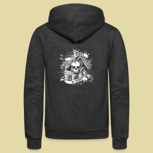 hoh_tshirt_skullhouse - Unisex Fleece Zip Hoodie by American Apparel
