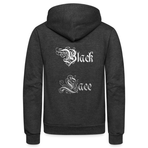 Black Lace Media logo - Unisex Fleece Zip Hoodie