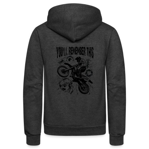 Remember Motocross - Unisex Fleece Zip Hoodie