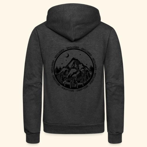 Bellingen Mountain Ranges - Unisex Fleece Zip Hoodie