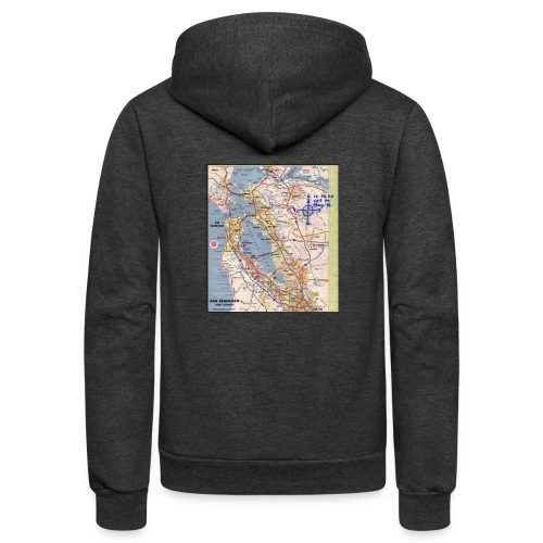Phillips 66 Zodiac Killer Map June 26 - Unisex Fleece Zip Hoodie