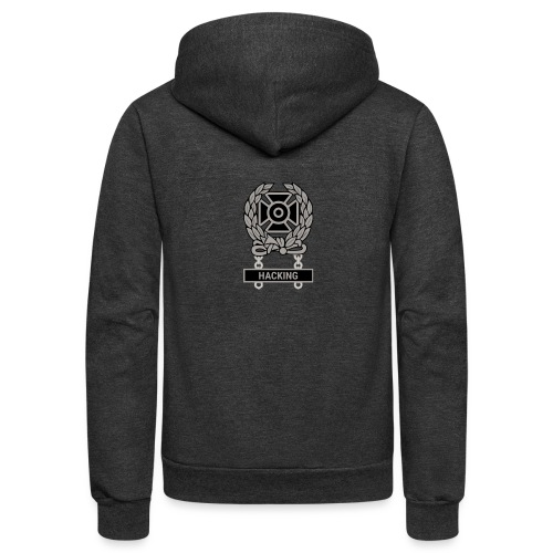 Expert Hacker Qualification Badge - Unisex Fleece Zip Hoodie
