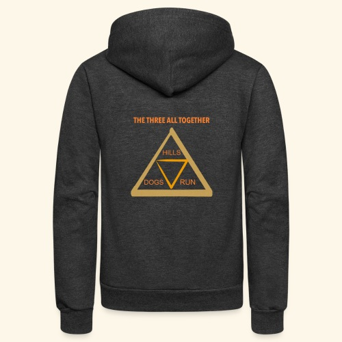 Run4Dogs Triangle - Unisex Fleece Zip Hoodie