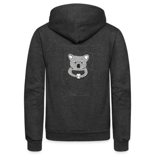 Print With Koala Lying In A Bed - Unisex Fleece Zip Hoodie