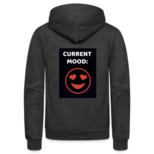 Love current mood by @lovesaccessories - Unisex Fleece Zip Hoodie