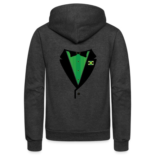 Jamaican Tuxedo Green - Unisex Fleece Zip Hoodie
