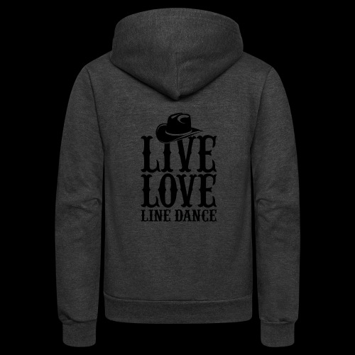 Live Love Line Dancing - Unisex Fleece Zip Hoodie