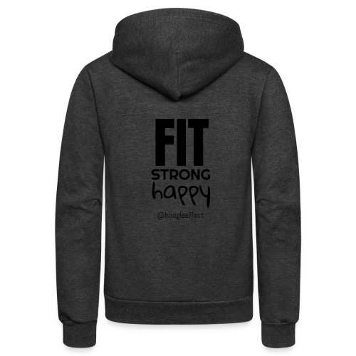 fit strong happy black - Unisex Fleece Zip Hoodie