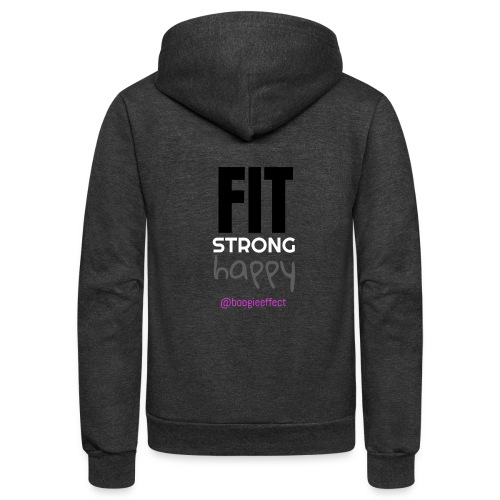 fit strong happy colour - Unisex Fleece Zip Hoodie